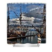 Lady Washington - Hawiian Chieftain Shower Curtain
