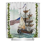 Lady Washington And Holly Shower Curtain