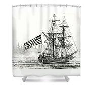 Lady Washington At Friendly Cove Shower Curtain