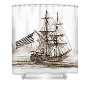 Lady Washington At Friendly Cove Sepia Shower Curtain