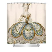 Lady Wearing Dress For A Royal Shower Curtain