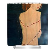 Lady With Beads From Shan Pecks Photograthy  Shower Curtain