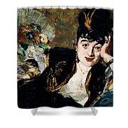 Lady With Fan Portrait Of Marie Anne De Callias Known As Nina De Callias Shower Curtain