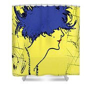 Lady With Hat 2c Shower Curtain