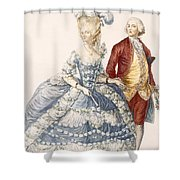 Lady With Her Husband Attending A Court Shower Curtain