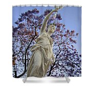 Lady With The Light Shower Curtain