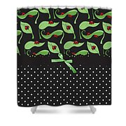 Ladybug Connection Shower Curtain