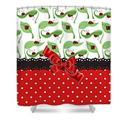 Ladybug Delight  Shower Curtain
