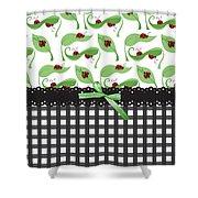 Ladybug Delight Shower Curtain