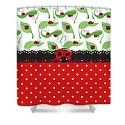 Ladybug Impression Shower Curtain