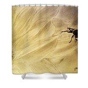 Ladybug On A Sunflower Shower Curtain