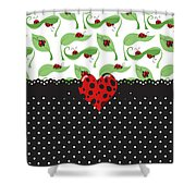 Ladybug Special Shower Curtain