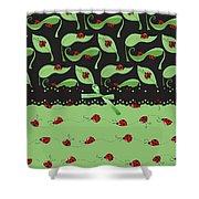 Ladybug Splash Shower Curtain