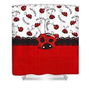 Ladybug Sweet Surprises  Shower Curtain