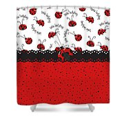 Ladybugs Occasion Shower Curtain