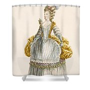 Ladys Ball Gown, Engraved By Dupin Shower Curtain