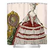 Ladys Court Gown In Dark Cherry Shower Curtain
