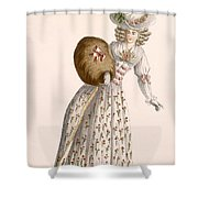 Ladys Gown Embroidered With Small Shower Curtain
