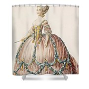 Ladys Gown For The Royal Court Shower Curtain