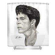 Laettner Shower Curtain by Tamir Barkan