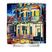 Lafitte Guest House At Christmas Shower Curtain