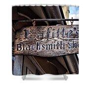 Lafittes Blacksmith Shop Sign Shower Curtain