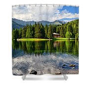 Lago Dei Caprioli - Roe Deer Lake Shower Curtain