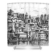 Lago Di Como-brienno Shower Curtain