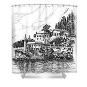 Lago Di Como-lenno - Vila Del Bilbianello Shower Curtain