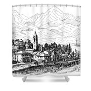 Lago Di Como- San Siro -rezzonico Shower Curtain