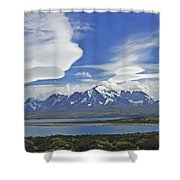 Lago Sarmiento And The Paine Massif Shower Curtain