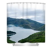 Lagoa Do Fogo Panoramic View Shower Curtain