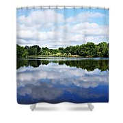 Lagoon IIi Shower Curtain