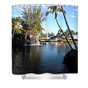 Lagoon Of Hilton Waikoloa Shower Curtain