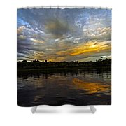 Lagoon Sunset In The Jungle Shower Curtain