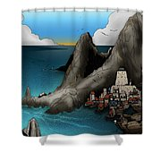 Lagott Island Shower Curtain