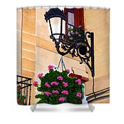 Laguardia Street Lamp  Shower Curtain
