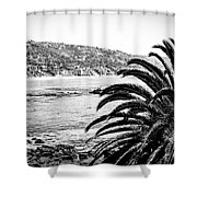 Laguna Beach California In Black And White Shower Curtain