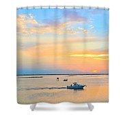 Laguna Madre Fishing At Sunset Shower Curtain