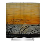 Laguna Madre Sunset Shower Curtain