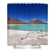 Laguna Verde Bolivia Shower Curtain