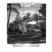 Lahaina Palm Shadows Shower Curtain
