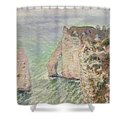 Laiguille And The Porte Daval   Etretat Shower Curtain