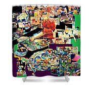 Lail Haseder 4 Shower Curtain