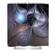 Lair Of The Ice Dragon Shower Curtain