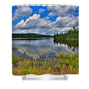 Lake Abanakee In Indian Lake New York Shower Curtain by David Patterson
