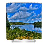 Lake Abanakee - Indian Lake New York Shower Curtain by David Patterson