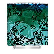 Abiquiu Reservoir Lakebed Shower Curtain