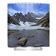 Lake Agnes Shower Curtain