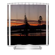 Lake Almanor Sunset Triptych Shower Curtain